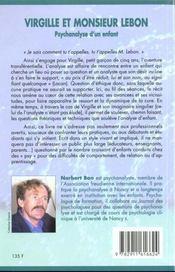 Virgille Et Monsieur Lebon - 4ème de couverture - Format classique