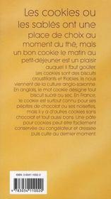 Cookies et petits biscuits - 4ème de couverture - Format classique