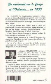 En Naviguant Sur Le Congo Et L'Obangui.... En 1950 - 4ème de couverture - Format classique