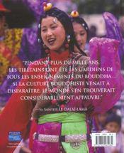 La vie des bouddhistes tibetains - 4ème de couverture - Format classique