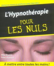 L'hypnothérapie pour les nuls - Couverture - Format classique