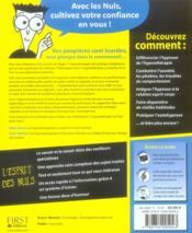 L'hypnothérapie pour les nuls - 4ème de couverture - Format classique