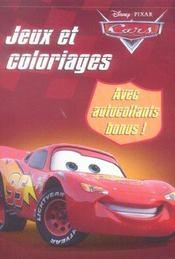 Cars ; Jeux Et Coloriages - Intérieur - Format classique