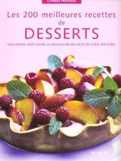 Les 200 meilleures recettes de desserts - Intérieur - Format classique