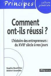 Comment ont-ils reussi ; l'histoire des entrepreneurs du xviii siecle a bill gates - Intérieur - Format classique