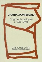 Fragments critiques (1978-1998) - Couverture - Format classique