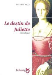 Le destin de Juliette - Couverture - Format classique