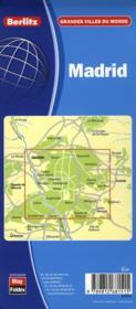 Madrid - Carte Routiere Et Touristique - 4ème de couverture - Format classique