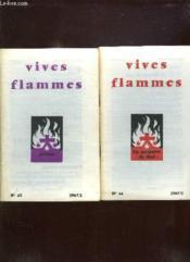 Vives Flammes Du N° 43 Au N° 48 Annee 1967. Prions, En Memoire De Moi, Laics Du Carmel, Le Desert, Lourdes 1967, Anne De La Foi. - Couverture - Format classique