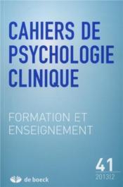 Cahiers De Psychologie Clinique N.41 - Couverture - Format classique