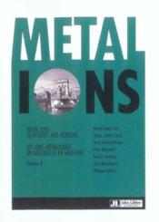 Metal Ions In Biology And Medecine Volume 8. Les Ions Metalliques En Biologie - Couverture - Format classique
