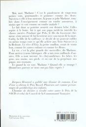 Moi Madame - 4ème de couverture - Format classique