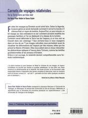Carnets de voyages relativistes - 4ème de couverture - Format classique