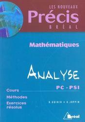 Precis de maths analyse pc psi - Intérieur - Format classique