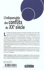 L'indispensable des conflits du xx siecle - 4ème de couverture - Format classique