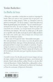 La Barbe De Bouc - 4ème de couverture - Format classique