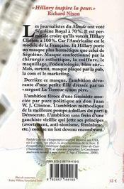 Hillary démasquée - 4ème de couverture - Format classique