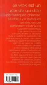 Wok, l'outil des saveurs - 4ème de couverture - Format classique