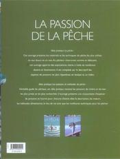 La Passion De La Peche - 4ème de couverture - Format classique