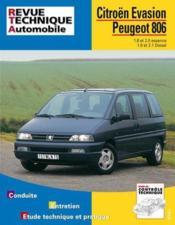 Rta 576.3 Peugeot 806-Citroen Evasion 95/98 - Couverture - Format classique