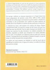 Mecanique Newtonienne Du Point 1re Annee Pcsi-Mpsi-Ptsi Cours Et Exercices Corriges - 4ème de couverture - Format classique