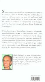 Petit guide du parler quebecois - 4ème de couverture - Format classique