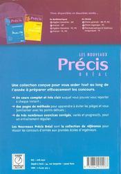 Precis de maths algebre et geometrie pc psi - 4ème de couverture - Format classique