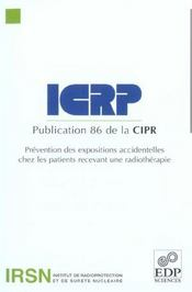 Prevention Des Expositions Accidentelles Chez Les Patients - Intérieur - Format classique