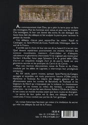 Le carré et la cendre - 4ème de couverture - Format classique