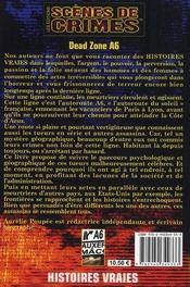 Dead zone A6 - 4ème de couverture - Format classique