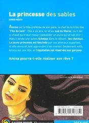 La Princesse Des Sables - 4ème de couverture - Format classique