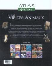 La Vie Des Animaux - 4ème de couverture - Format classique