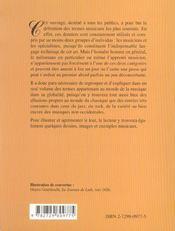 Petit Lexique Des Termes Musicaux - 4ème de couverture - Format classique