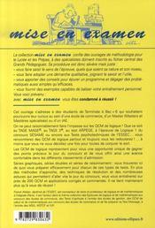 Qcm de logique aux concours des écoles commerce, iae, masters - 4ème de couverture - Format classique