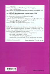 MethodiX ; physique 2 ; 200 méthodes, 100 exercices corrigés - 4ème de couverture - Format classique