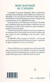 Mon Sauvage Au Canada ; Indiens Et Reserves ; Essai Critique - 4ème de couverture - Format classique