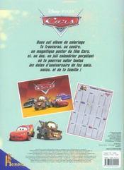 Coloriage Cars - 4ème de couverture - Format classique