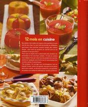 12 mois en cuisine - 4ème de couverture - Format classique