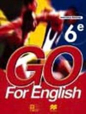 Go For English 6e (Senegal) - Couverture - Format classique
