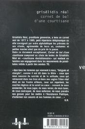 Carnet De Bal D'Une Courtisane - 4ème de couverture - Format classique