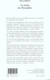 Genie Des Pyramides - 4ème de couverture - Format classique