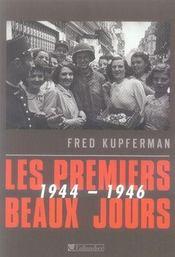 Les premiers beaux jours, 1944-1946 - Intérieur - Format classique