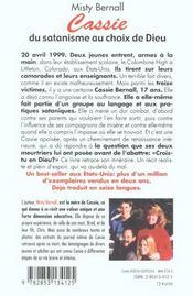 Cassie B: Du Satanisme Au Choix De Dieu - 4ème de couverture - Format classique