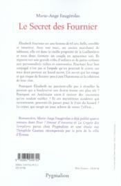 Le Secret Des Fournier - 4ème de couverture - Format classique