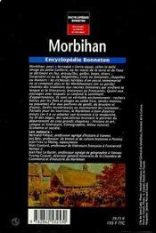 Encyclopedies Regionales ; Morbihan - 4ème de couverture - Format classique