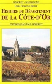 Histoire du département de la Côte-d'Or - Couverture - Format classique