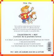 La Colere De Tom - 4ème de couverture - Format classique