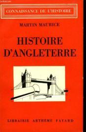 Histoire D'Angleterre. - Couverture - Format classique