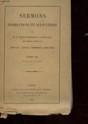 Sermons - Instructions Et Aalocutions - Tome Iii Allocution - Couverture - Format classique
