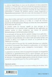 Thermodynamique Physique Et Chimique 2e Annee Mp-Mp* Cours Et Exercices Corriges - 4ème de couverture - Format classique